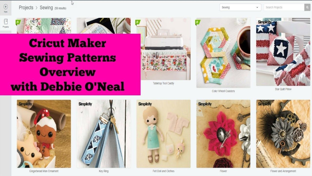 Cricut maker sewing patterns overview sewing patterns