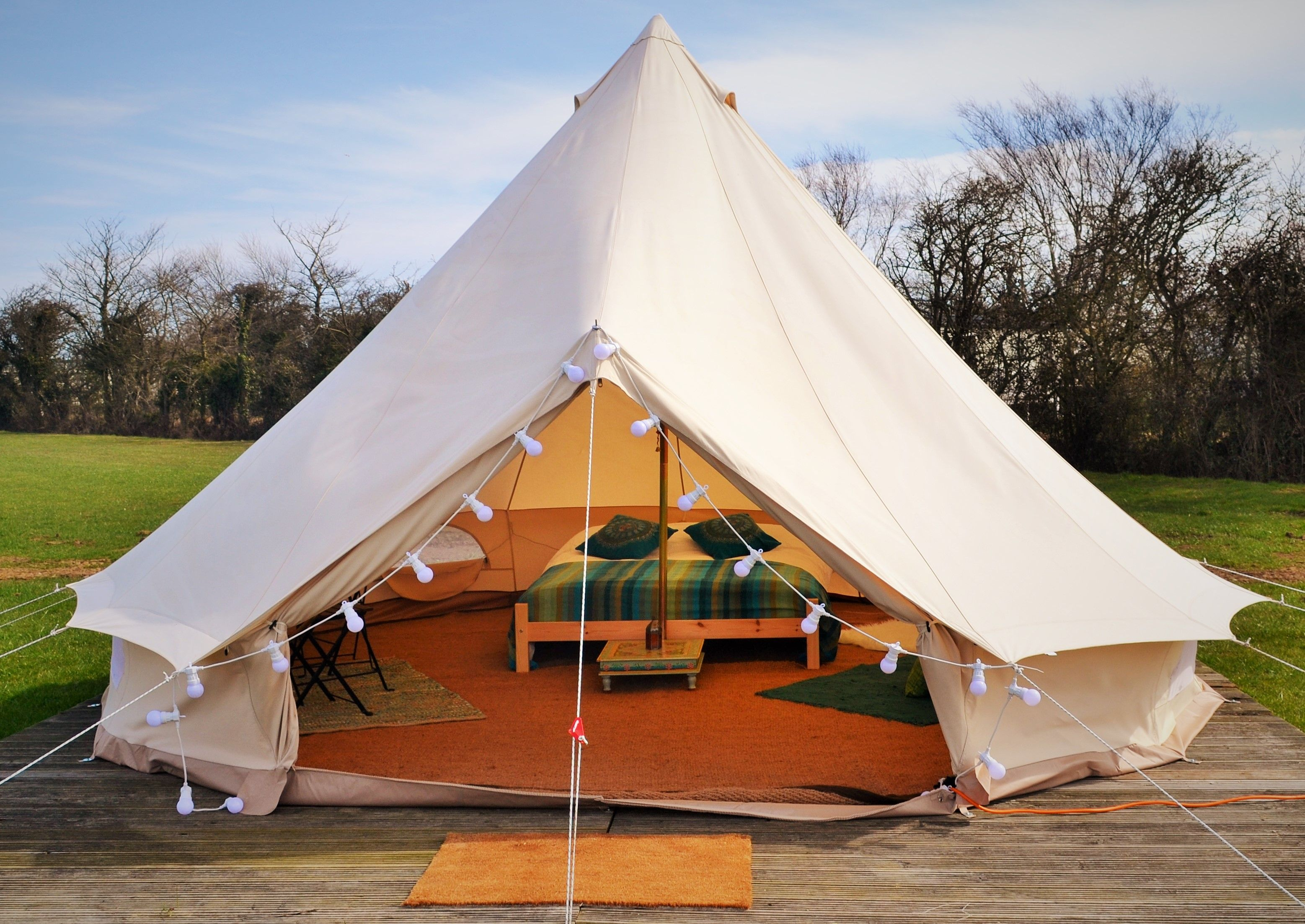 Gl&it bell tent. We offer permanent site options for YOU the land owner - & Glampit bell tent. We offer permanent site options for YOU the ...