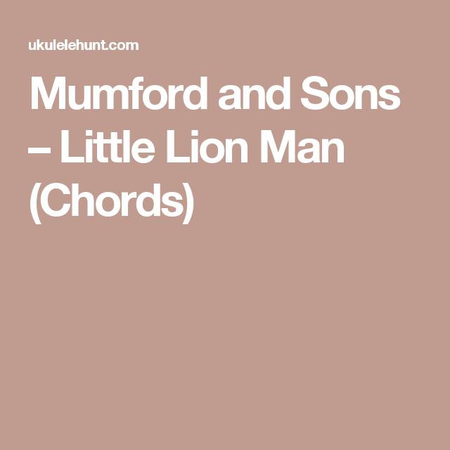 Mumford and Sons – Little Lion Man (Chords) | Violin | Pinterest ...