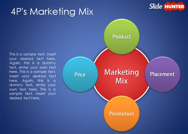 free 4p marketing mix powerpoint template abstract powerpoint