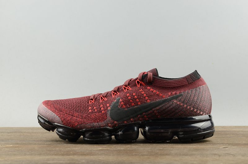 newest 0db8c 15fe3 Nike Air VaporMax Flyknit Dark Team Red-university Red 2018 Running Shoes  Sneakers 849558-601