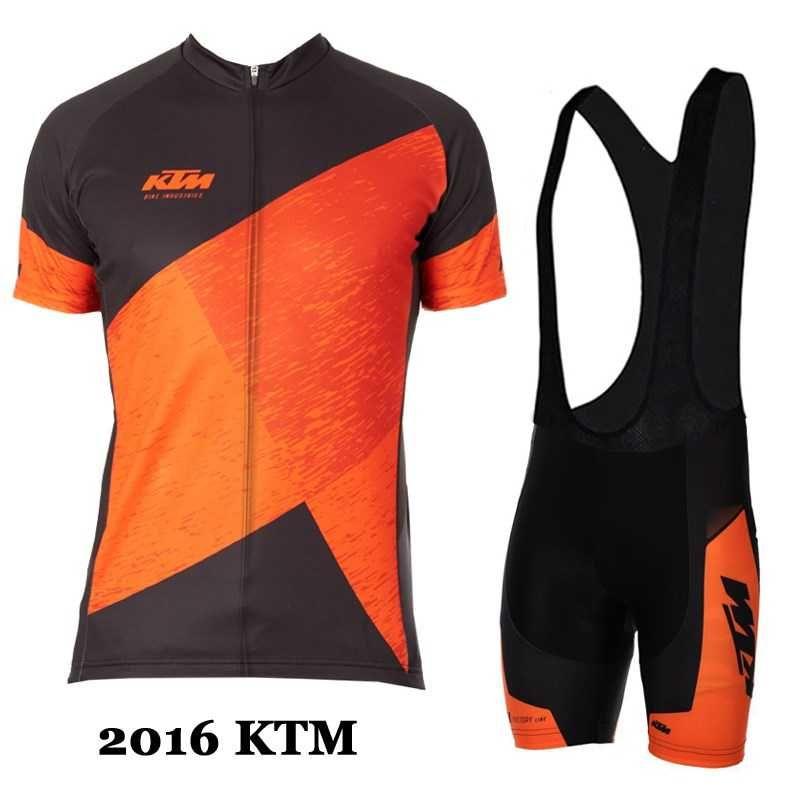 2016 KTM schwarz orange Factory Character Fahrradbekleidung