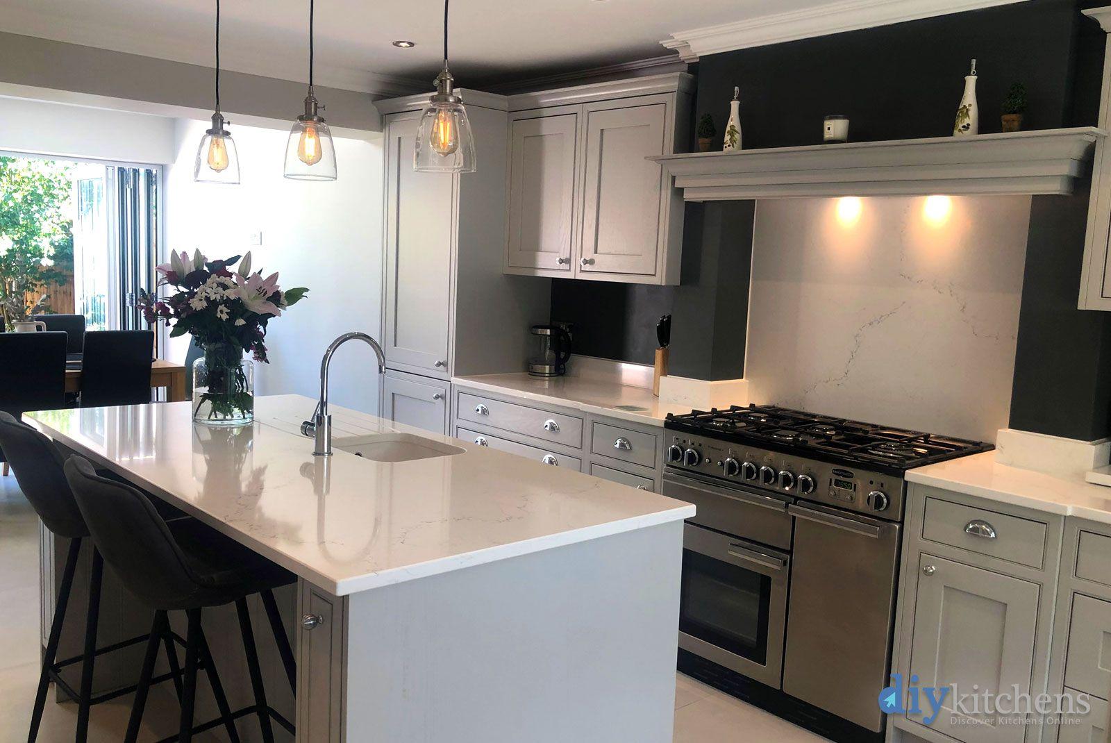 An Innova Helmsley Light Grey Inframe Kitchen Cheap
