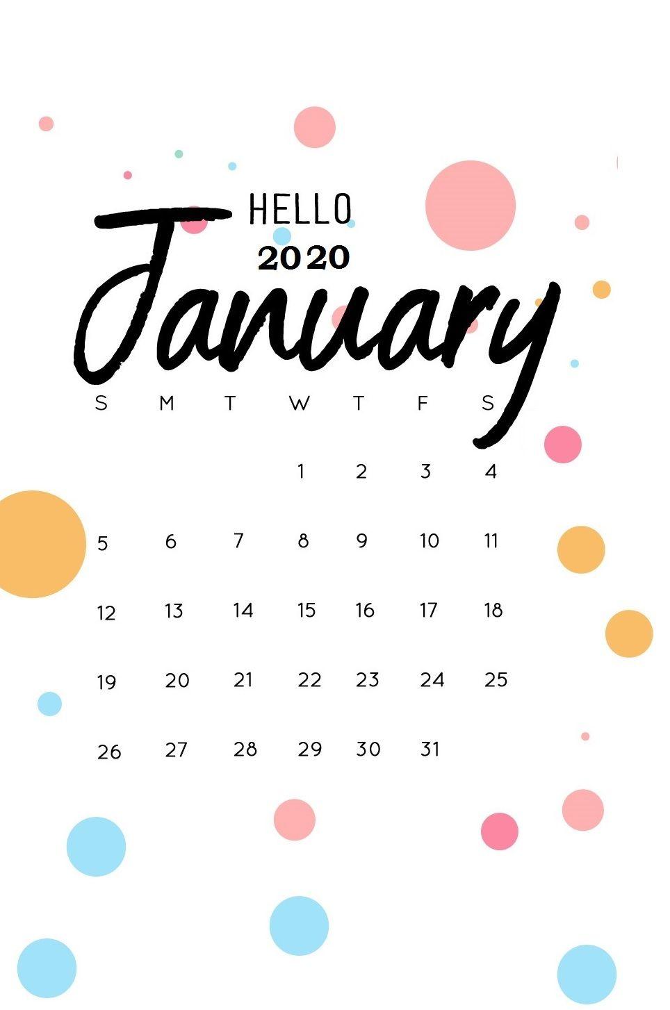 iPhone January 2020 Calendar Papeis de parede