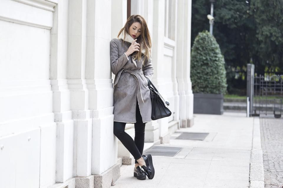 """Nicoletta, from """"Scentofobsession"""" wearing Promod coat."""
