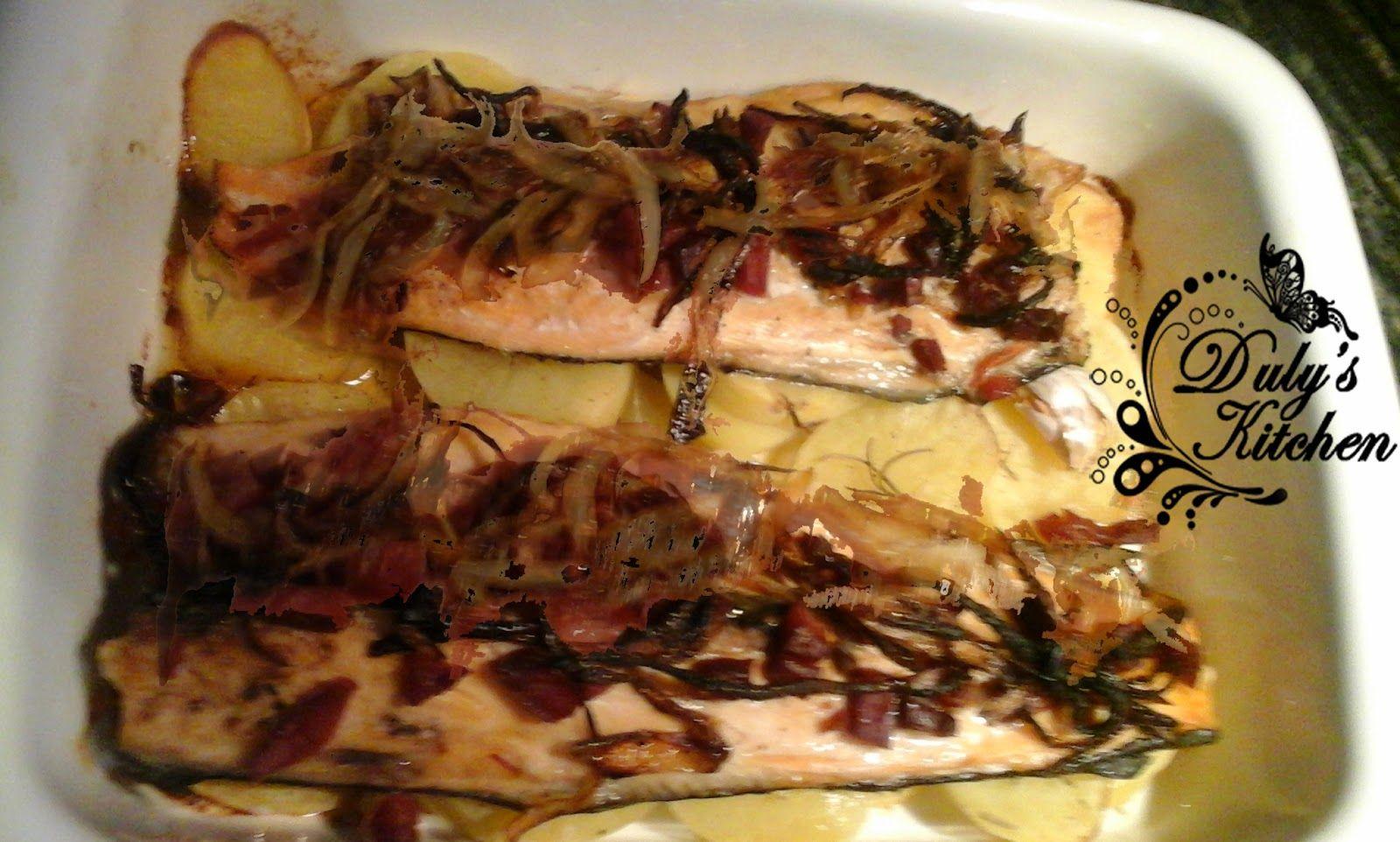 Duly's Kitchen: Trucha con jamón