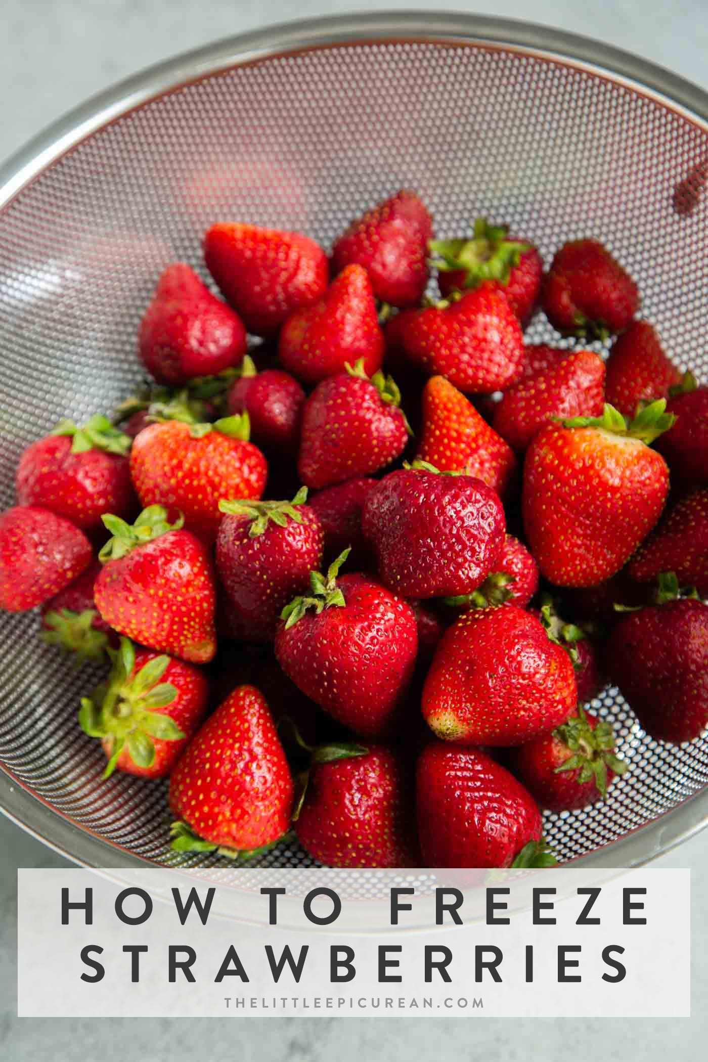How to freeze strawberries the little epicurean in 2020