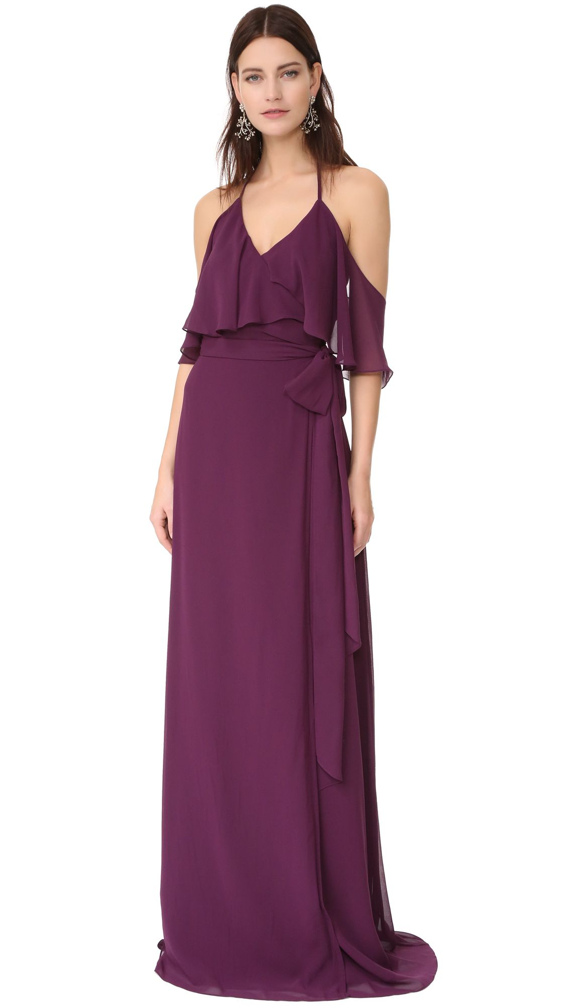Purple Dresses | Carols formal wear | Pinterest | Dresses, Halter ...