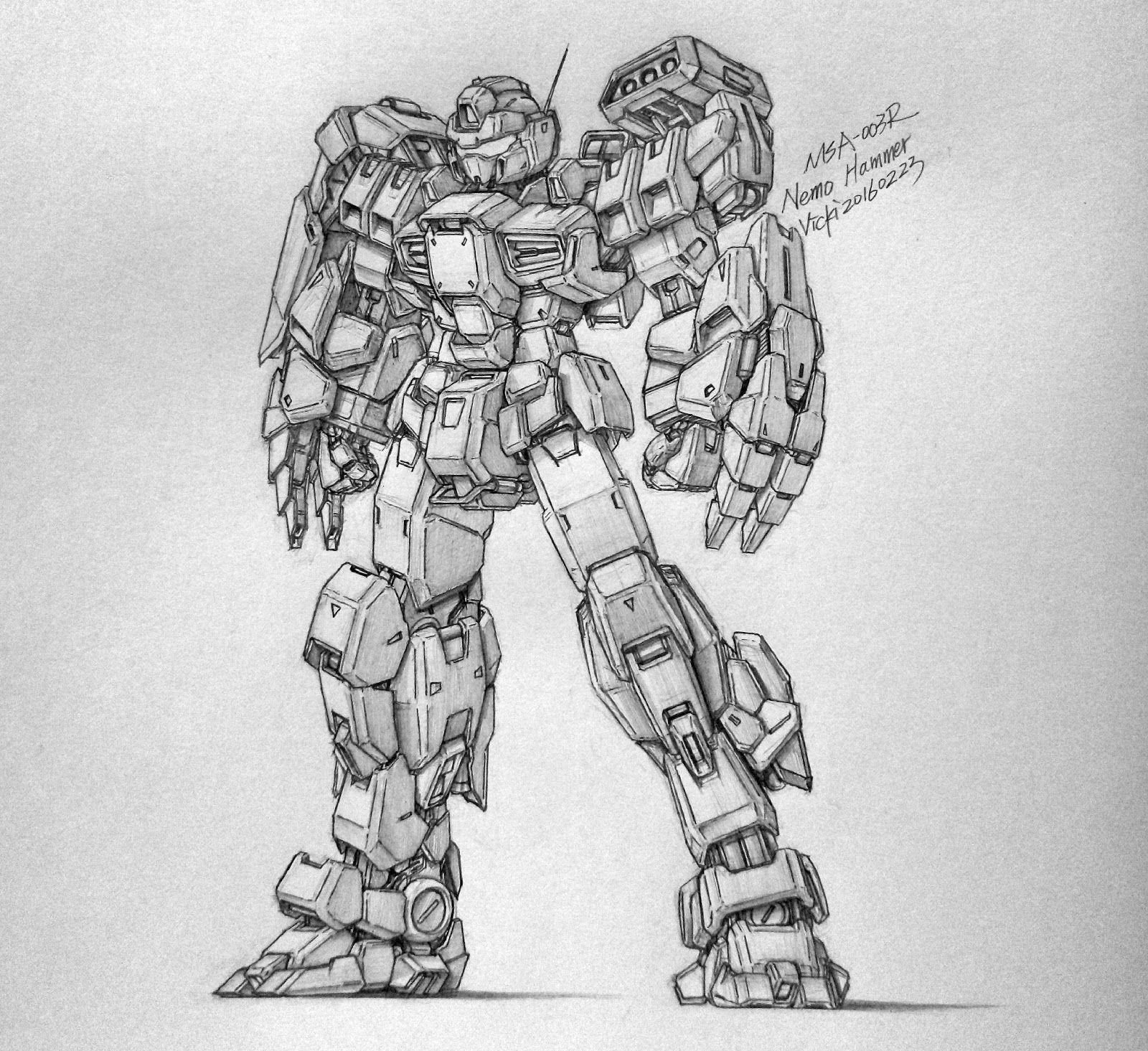 Gundam Guy Awesome Gundam Sketches By Vickidrawing Updated 4 30 16