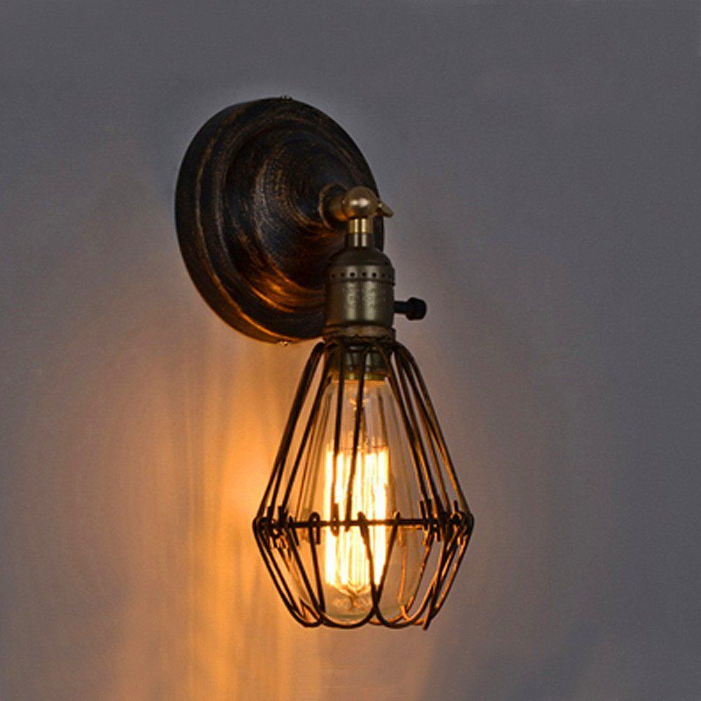 Indoor Wall Light Metal Kitchen Wall Sconce Vintage Lobby Led Lamp Brown Mini Chandelier Light Industrial Wall Lights Rustic Wall Lighting Industrial Wall Lamp
