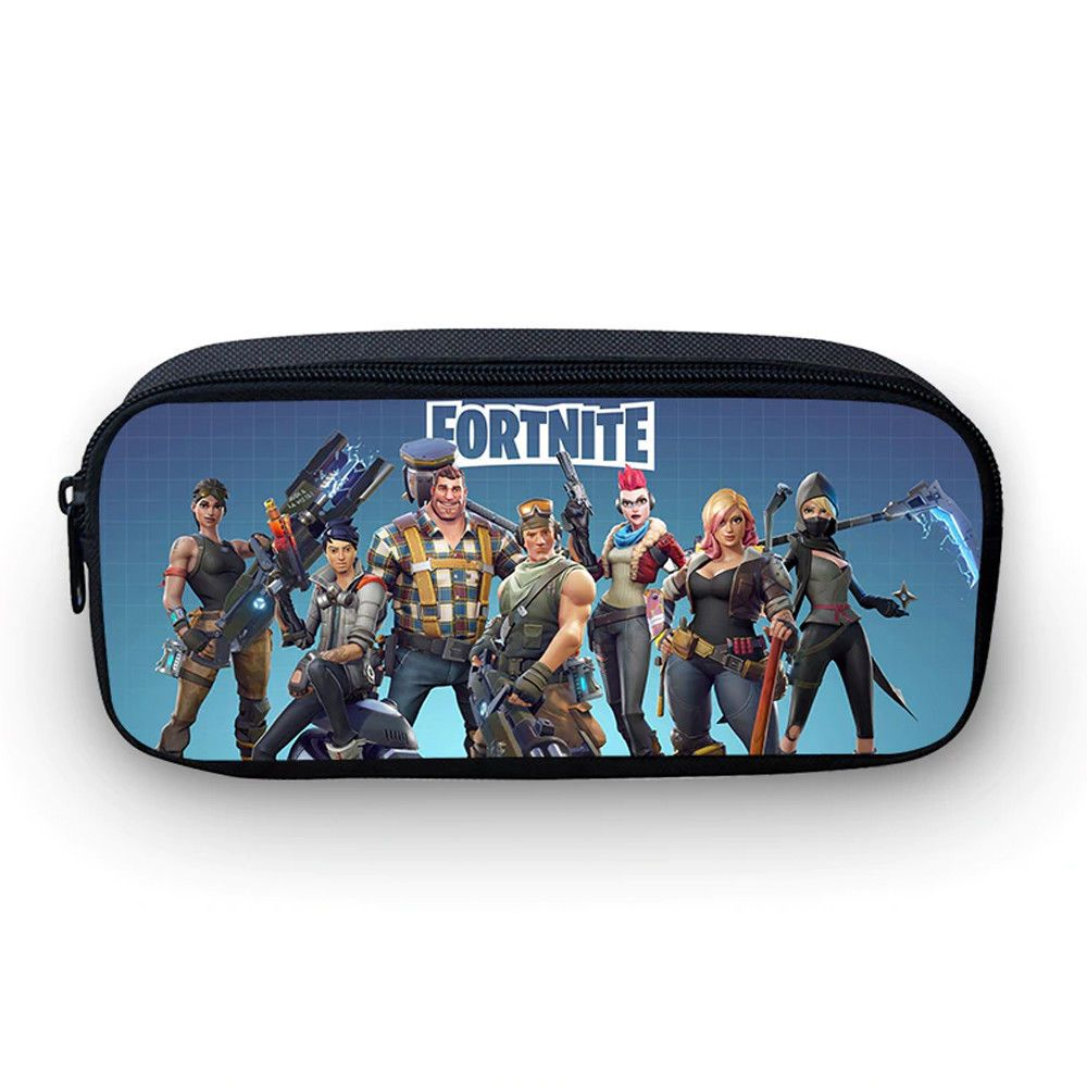 5f913e11b40f  Fortnite  BattleRoyale Print Pencil Bags Cosmetic Box Boys School Pen Case  Kids