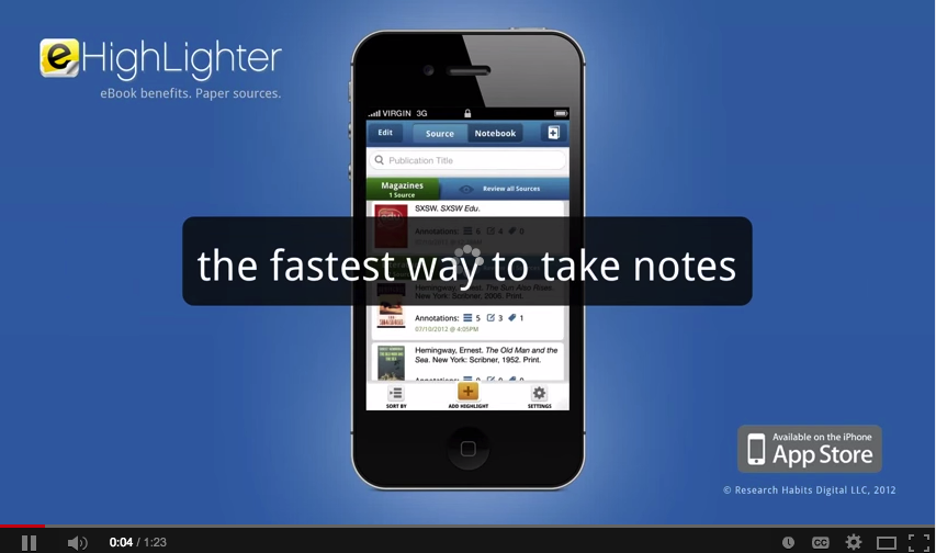 eHighlighter A Great iPad App for Taking and Annotating