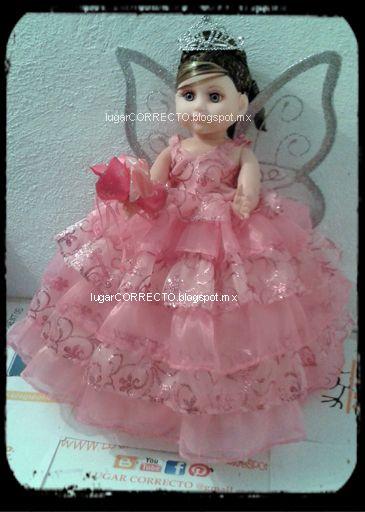 Muñeca De Porcelana 15 Xv Años Vestido Rosa Pastel Venta
