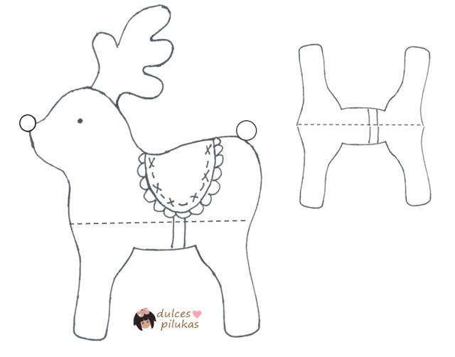 Decoración Navidad. Patrones renos | fieltro navidad | Pinterest ...
