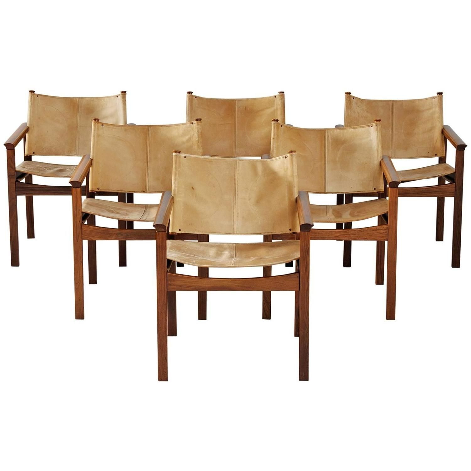 Excellent Set Of Six Rosewood Dining Chairs By Michel Arnoult Machost Co Dining Chair Design Ideas Machostcouk
