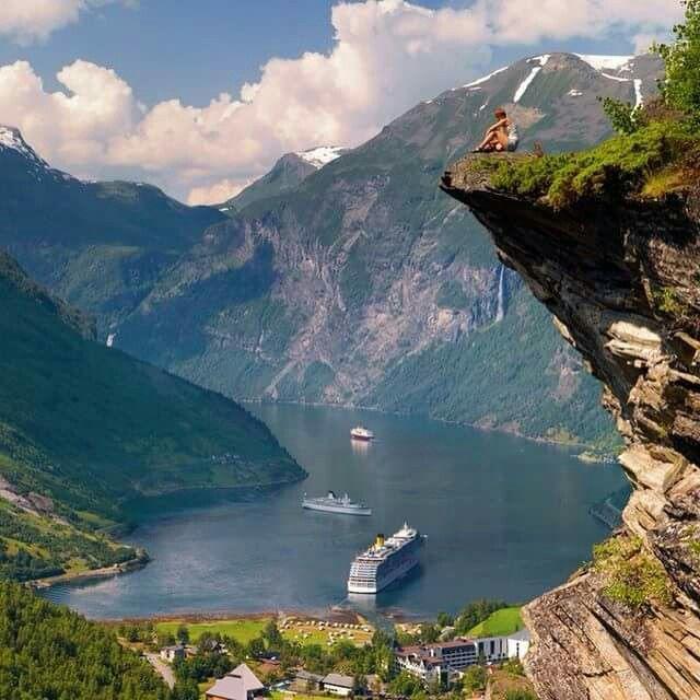 Flydalsjuvet in Geiranger. Norway
