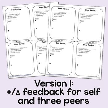 Presentation Feedback - Peer and Self Evaluation Pinterest