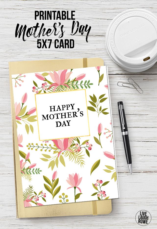 With this beautiful printable Mother\'s Day Card, all you need is a ...