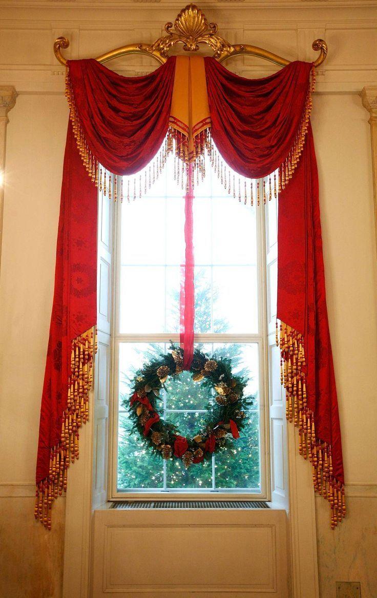 (via (1938) White House Christmas Curtains Pinterest