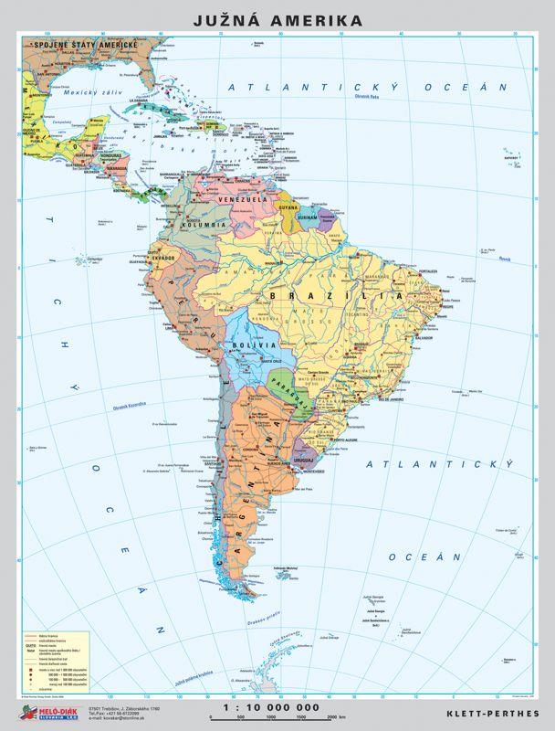 Mapa Juznej Ameriky Mapa