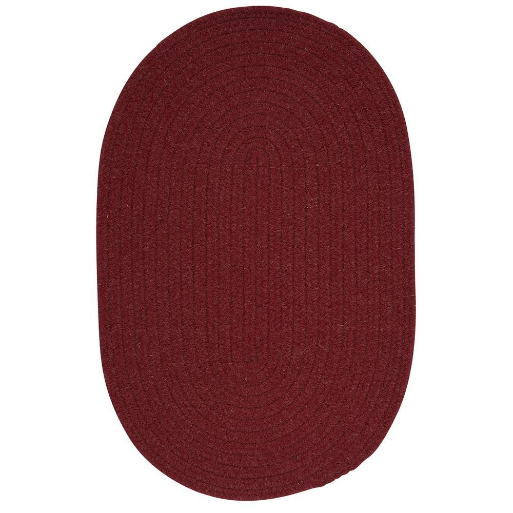 Edward Crimson Red 8 Ft X Round Braided Area Rug