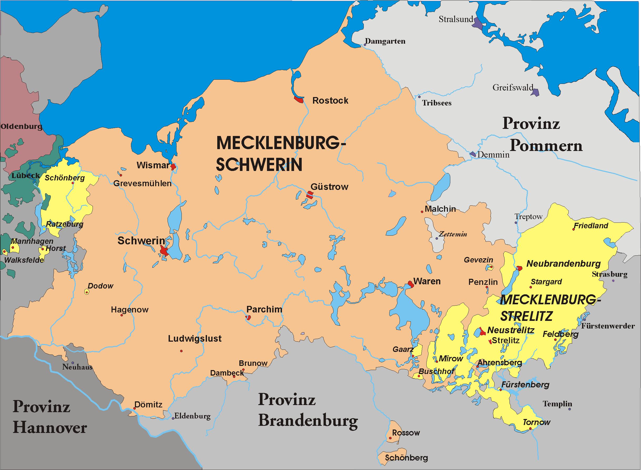 MecklenburgStrelitz MecklenburgVorpommern Germany Prussia