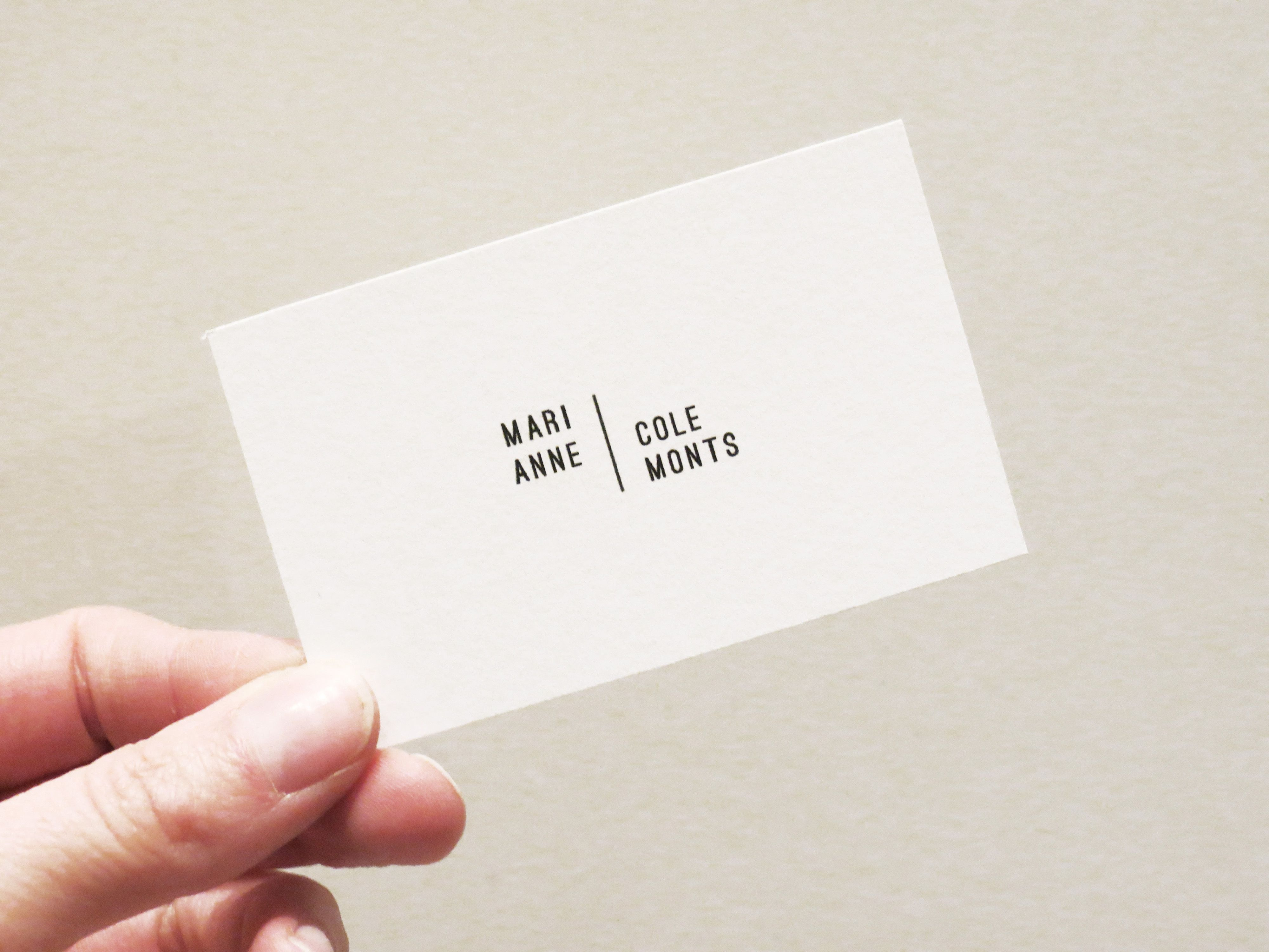Marianne Colemonts. Artist Business Card.