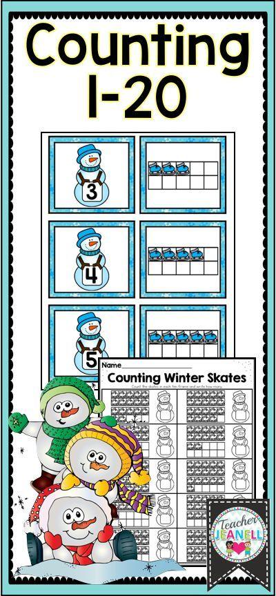 Free Winter Math Center | Free Snowman Counting | Kindergarten Math ...