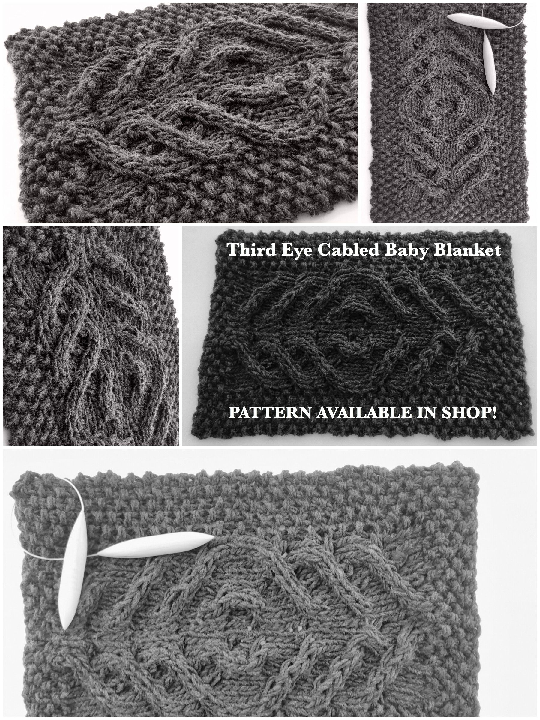 Third Eye Cabled Baby Blanket by MountainCity - PATTERN AVAILABLE ...