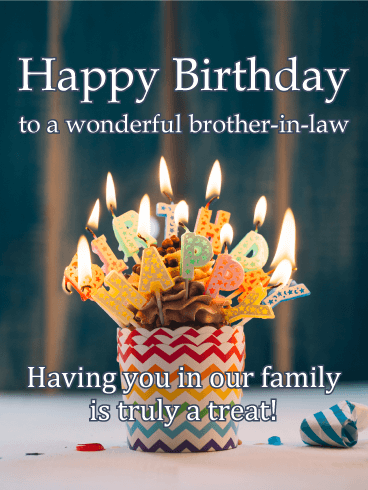 Treat Yourself Happy Birthday Card For Brother In Law Birthday Greeting Cards By Davia Birthday Cards For Brother Birthday Wishes For Brother Birthday Brother In Law