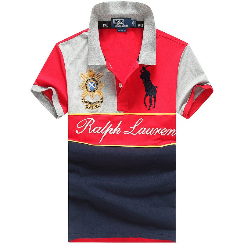 7e6768980a8 Men ralph lauren new big pony polo shirt for Men red white black ...