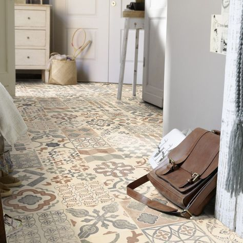 pvc boden tarkett exclusive 240 retro almeria natural 3m bodenbel ge pvc belag fliesen dekor. Black Bedroom Furniture Sets. Home Design Ideas