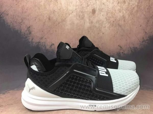 Chaussures Puma Ignite blanches homme
