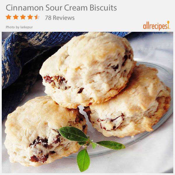 Cinnamon Sour Cream Biscuits Recipe Sour Cream Biscuits Cream Biscuits Food Recipes