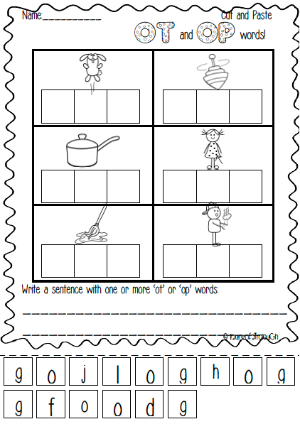 Op And Ot Word Family Pack Full Of Literacy And Spelling Games Activities And Worksheets Word Family Worksheets Word Families Word Family Activities