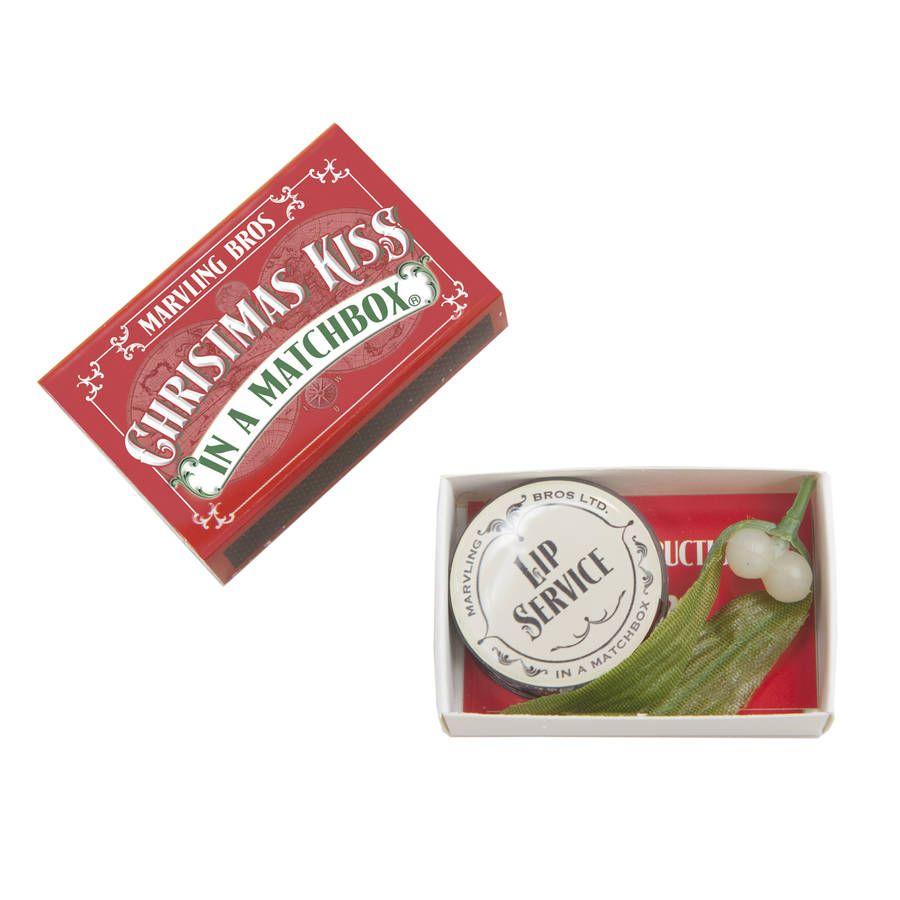 Mistletoe Christmas Gift In A Matchbox
