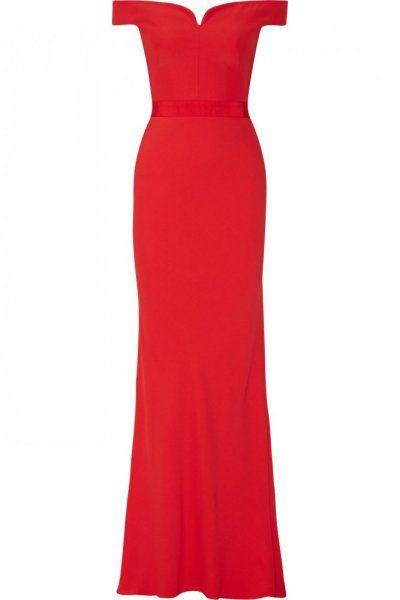 بالصور أجمل فساتين الخطوبة باللون الأحمر مجلة هي Red Evening Dress Red Evening Gowns Long Red Dress