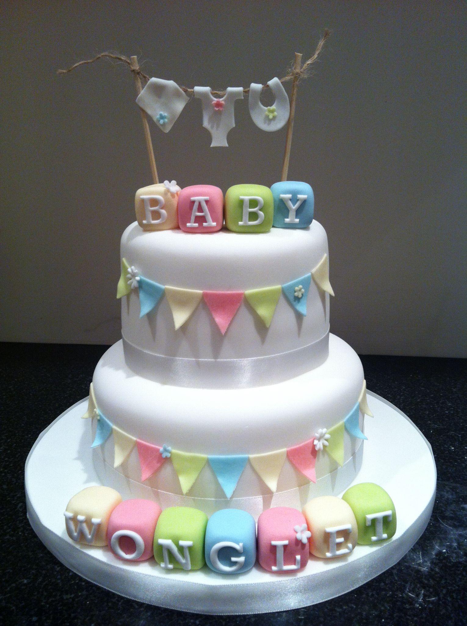 Original tarta para celebración de Baby shower. #babyshower #tarta #pastel