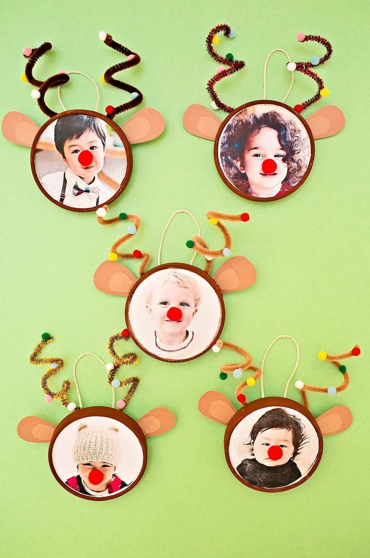 Rudolph Reindeer Photo Ornament Hello Wonderful Preschool Christmas Christmas Kindergarten Christmas Crafts