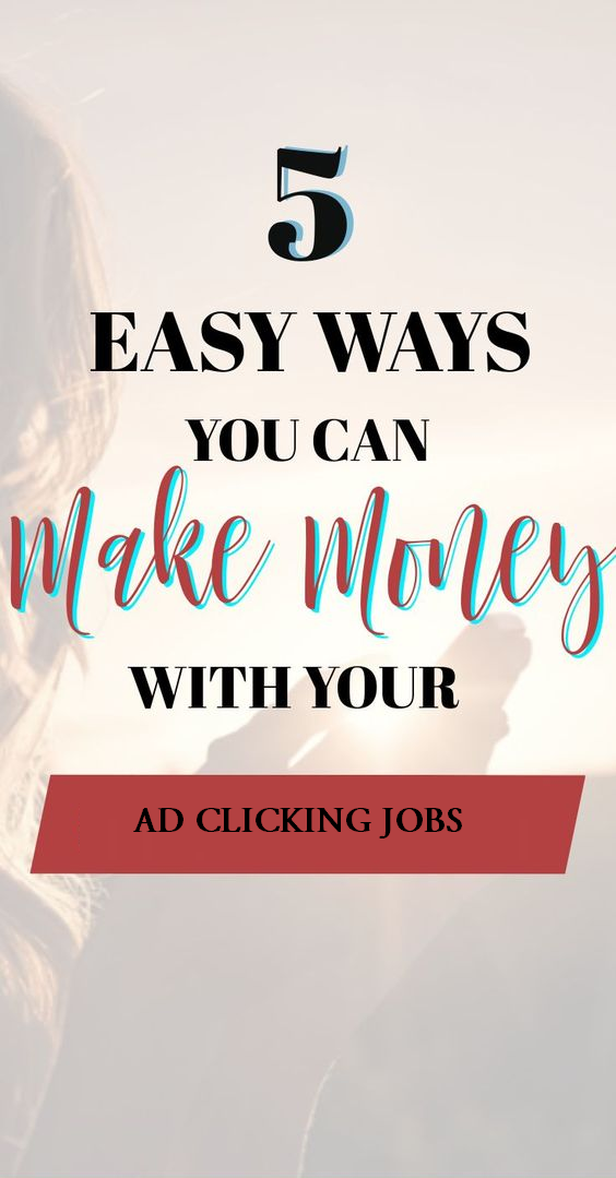 Pin on Ad clicking jobs