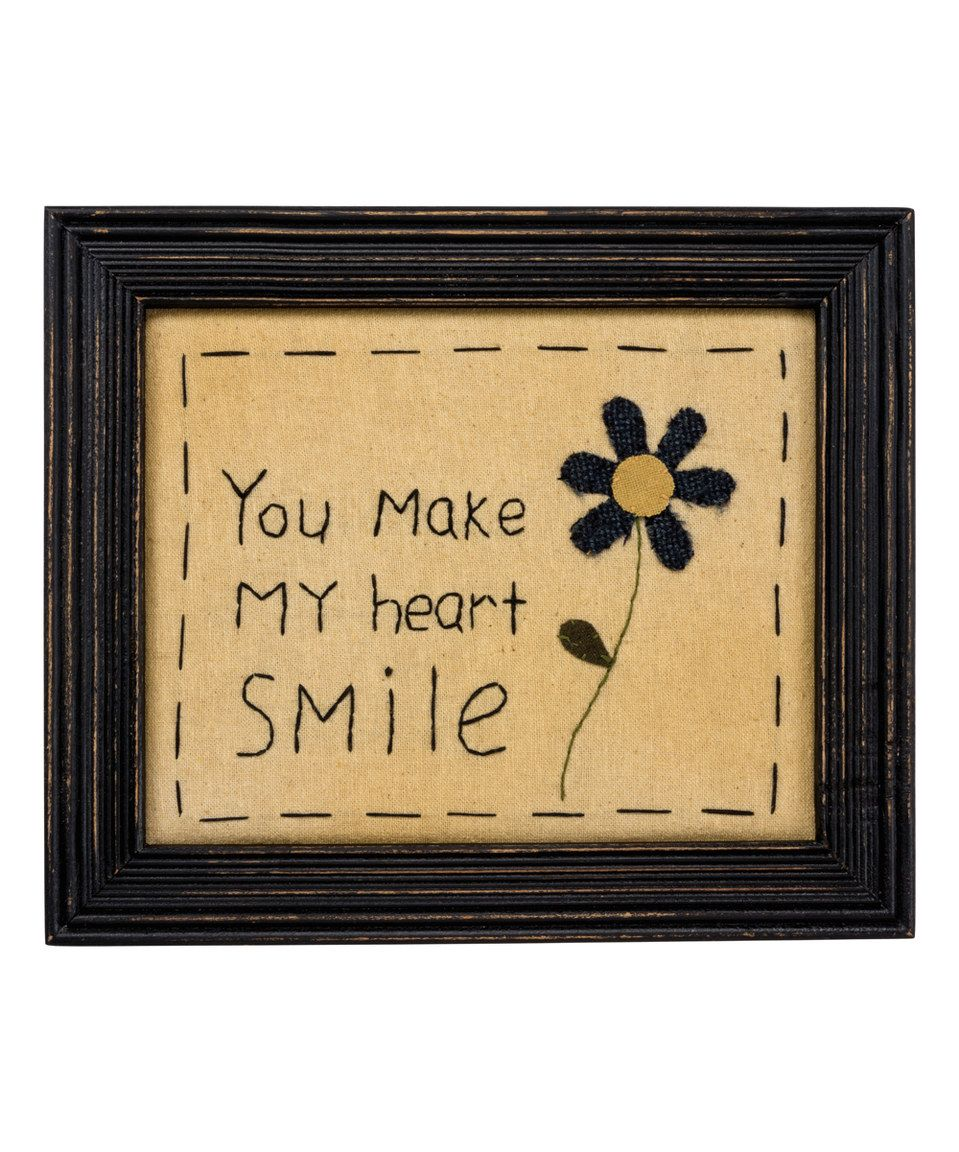 Loving this \'Heart Smile\' Stitch Sampler Sign on #zulily ...