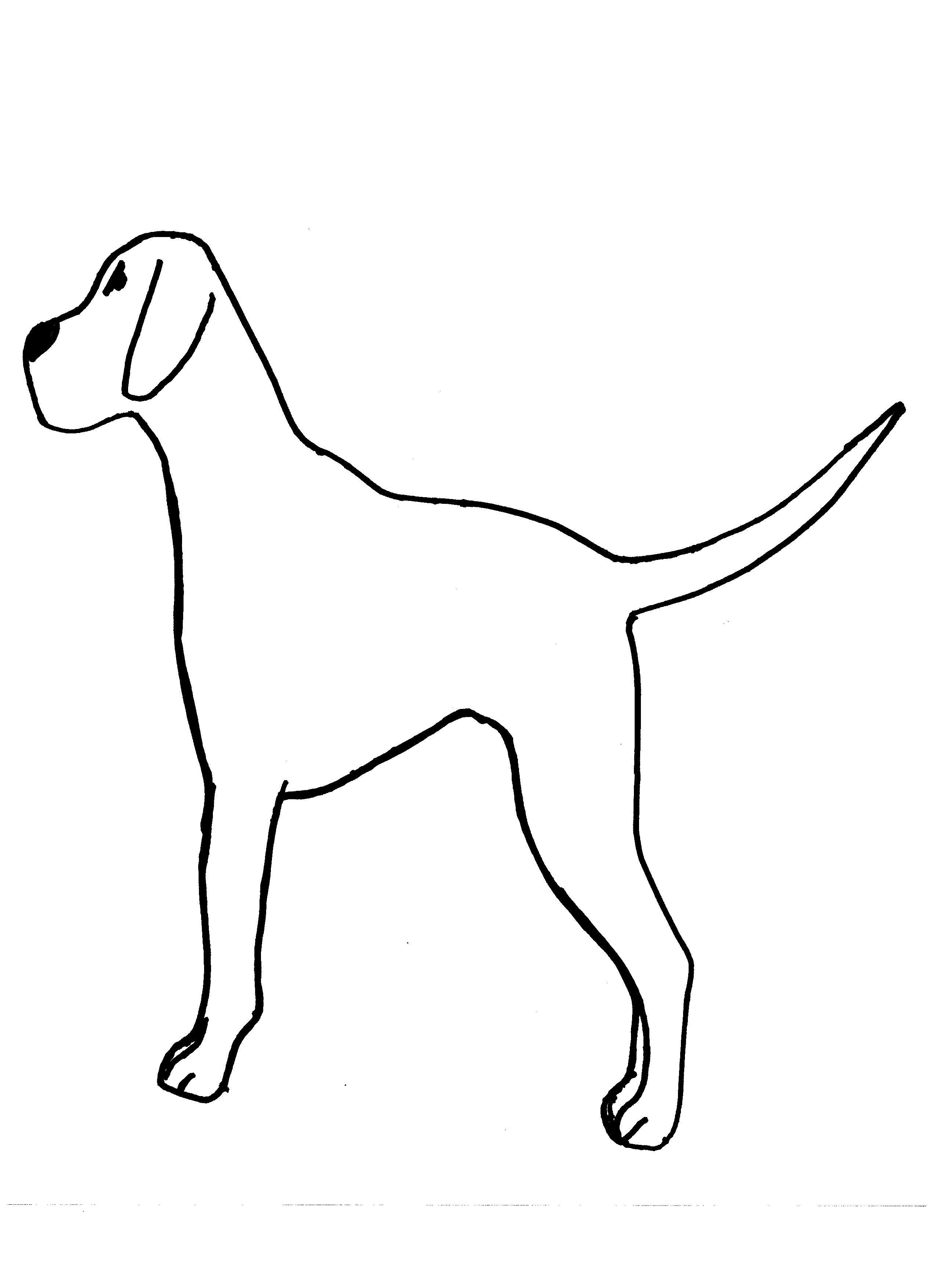 Dog Template For Kids Fingerprint Black Dots On Dalmation