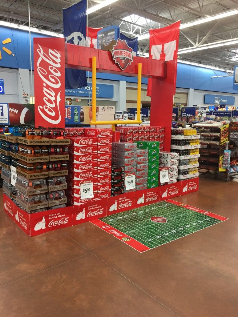 Coke Football Display