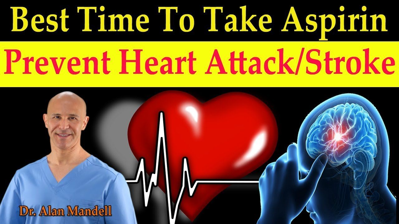 Best Time to Take Aspirin to Prevent Heart Attack & Stroke ...