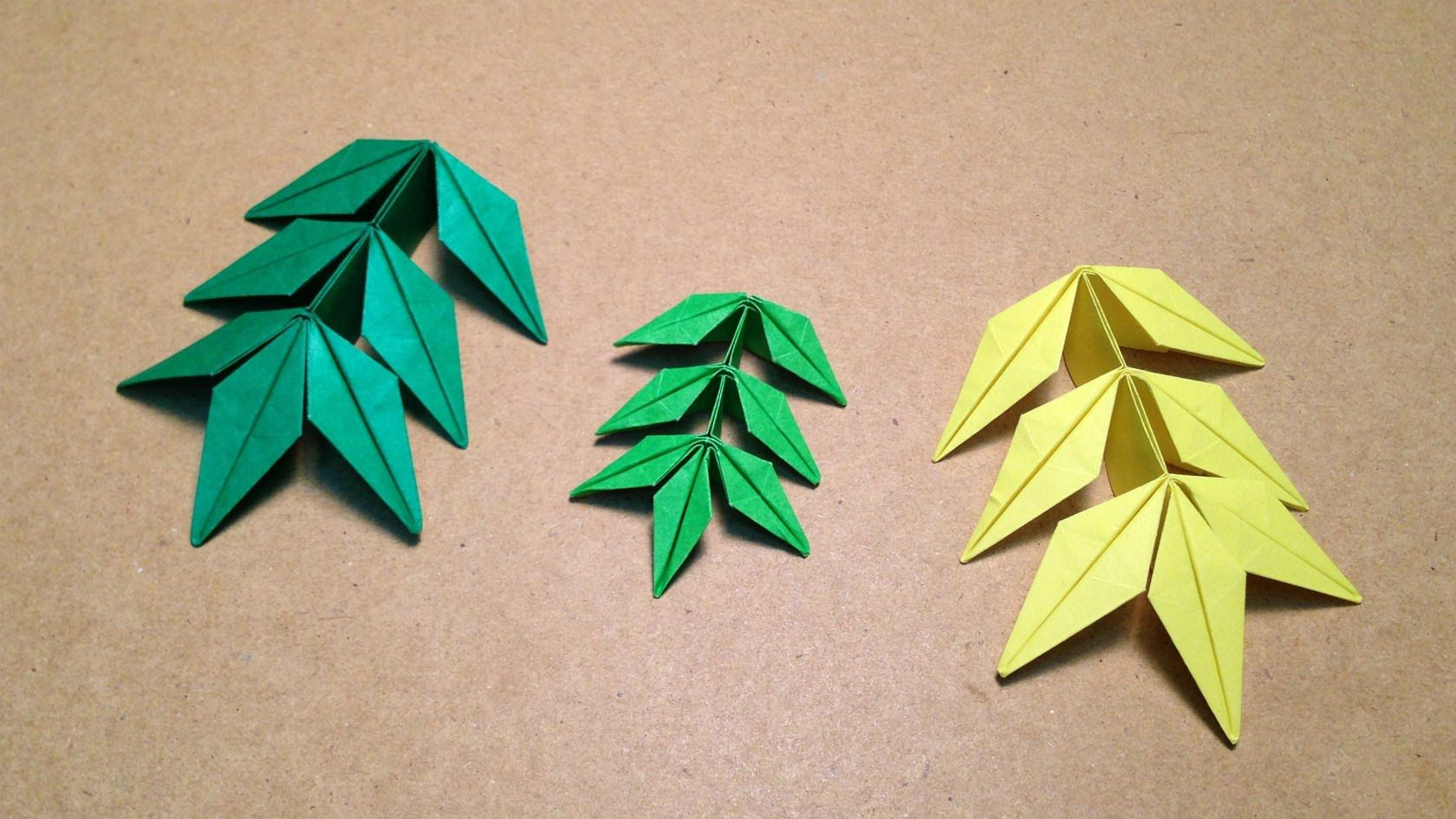 Origami Leaf Instructions / Marigold (Toshikazu Kawasaki ... - photo#18
