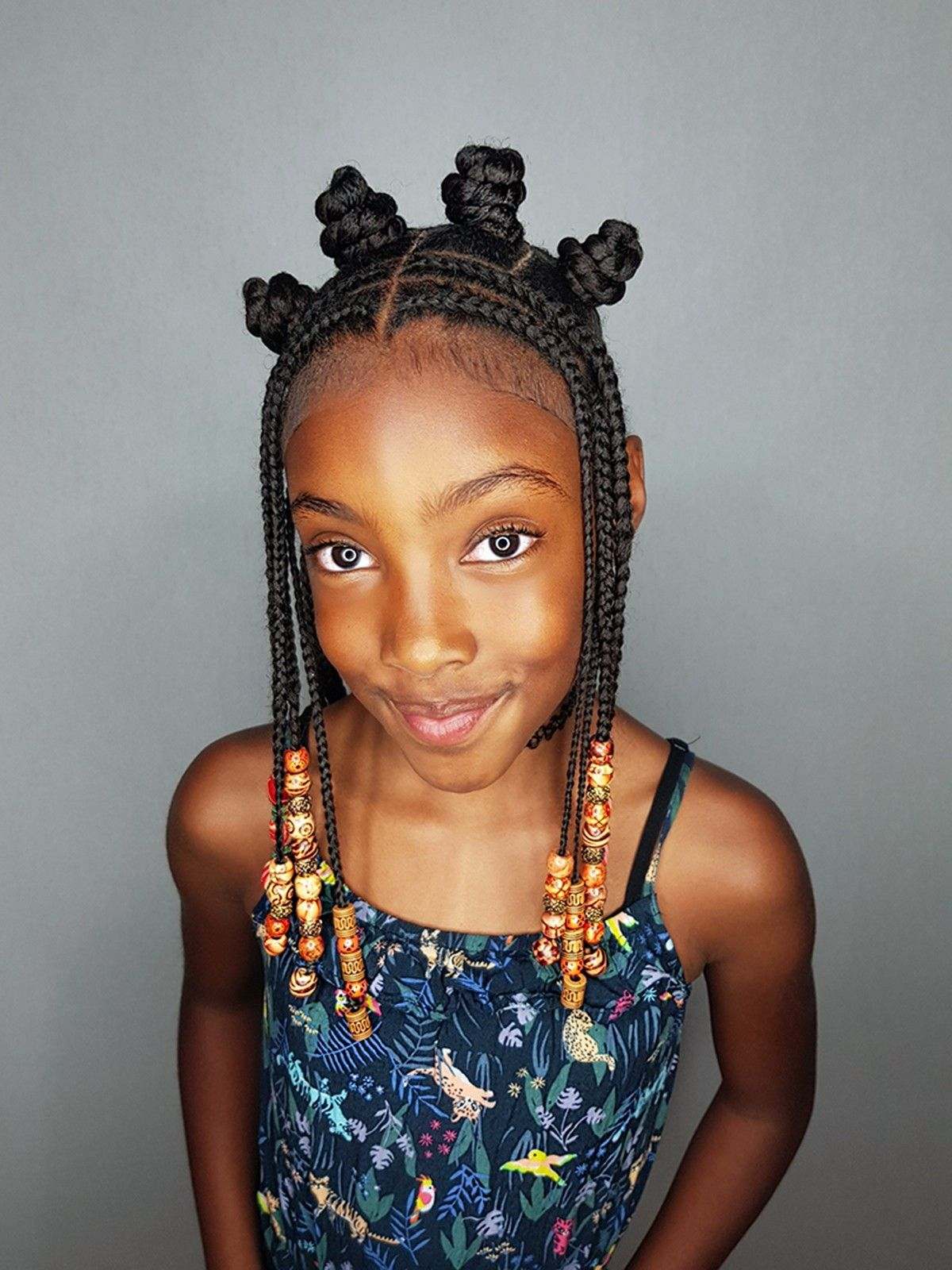 Bantu Halo Hairstyle For Little Girls Cute Ethnic