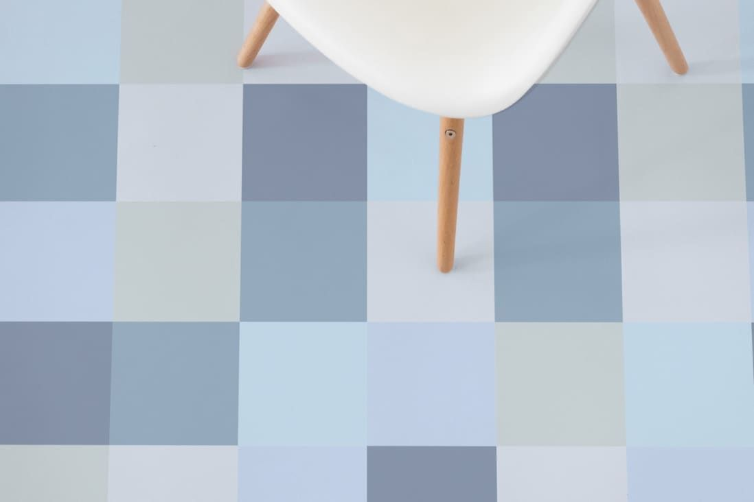 This Colorful Vinyl Tile Is A Pixellated Rainbow For Your Floors