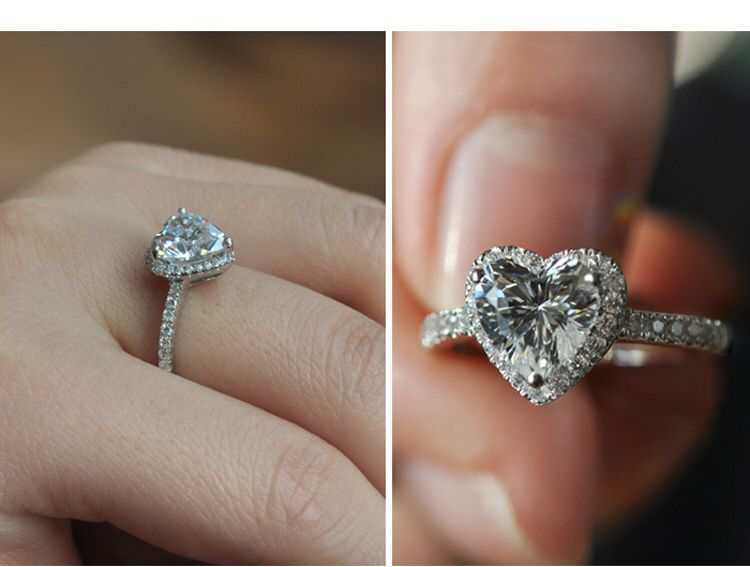 Lady Gagas engagement ring Heart of Oceanesque Wedding Stuff I