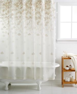 Martha Stewart Collection Falling Petals Shower Curtain Ivory