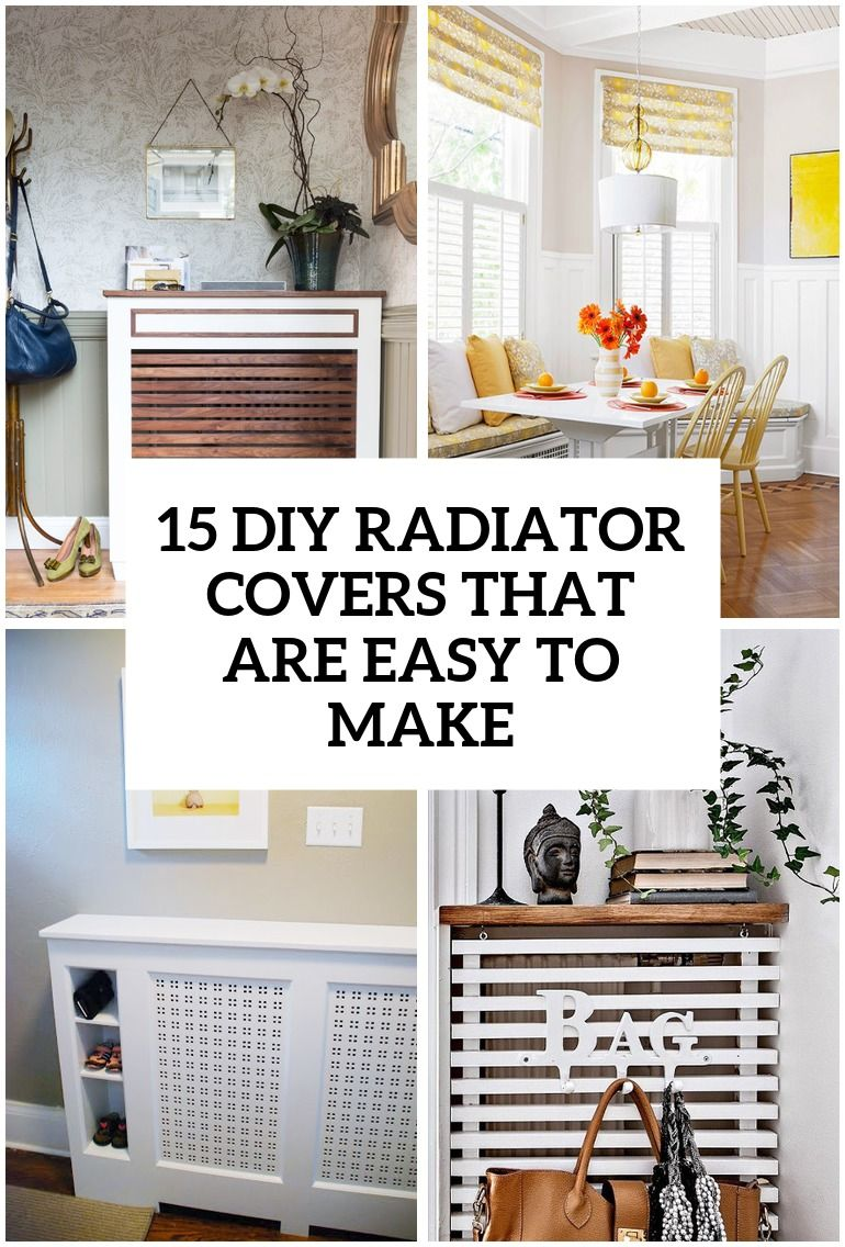 15 Diy Radiator Covers That You Can Easily Make Diy Radiator Cover Radiator Cover Home Radiators
